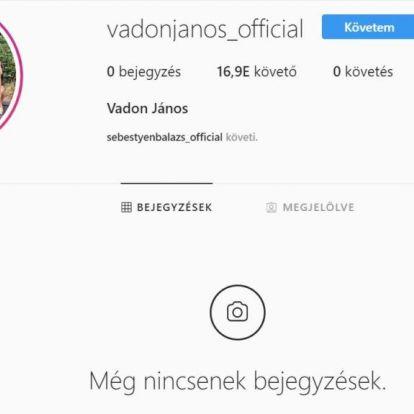 Vadon Janinak még egy posztja sincs, de már 17 ezren követik Instagramon