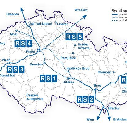 A csehek már tudják: 320-as tempóra tervezik a nagysebességű vasutat