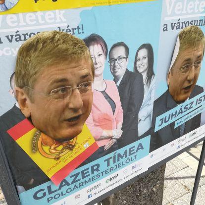 Gyurcsány fejét ragasztották a győri ellenzéki jelöltekre, de Borkaiékat is kidekorálták