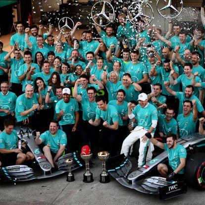 Zsinórban hatododszor világbajnok a Mercedes
