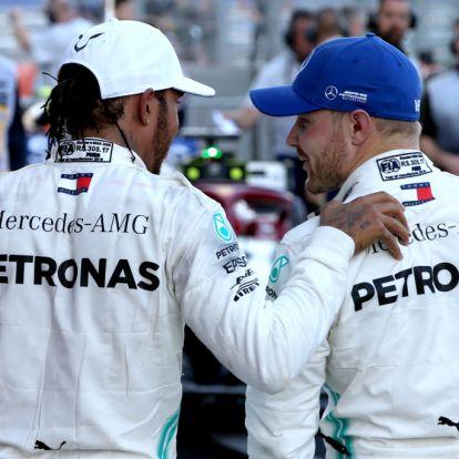 Már csak Hamilton vagy Bottas lehet világbajnok 2019-ben