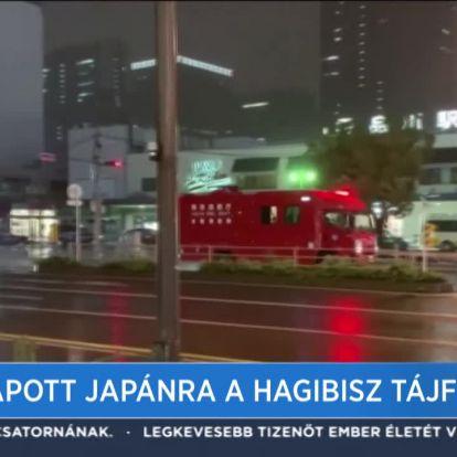 Lecsapott Japánra a Hagibisz tájfun