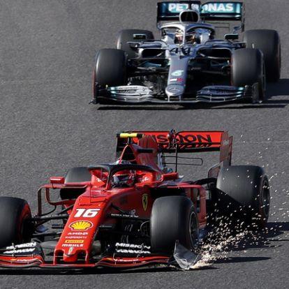 Leclerc-t büntették az 1 körrel korábban véget ért futamon