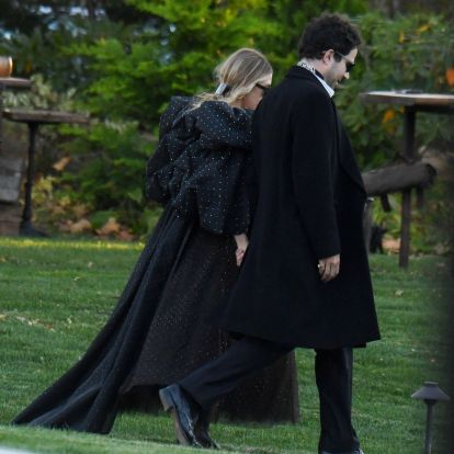 Ashley Olsen wore a super dramatic dress for Jennifer Lawrences wedding 2019
