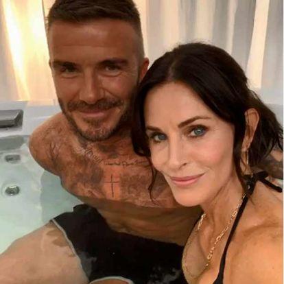 ¿Qué serie ha unido a David Beckham y Courteney Cox... en un jacuzzi?