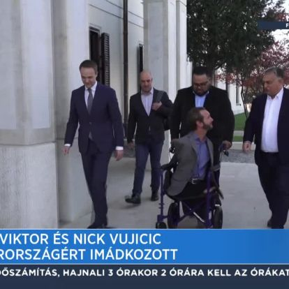 Orbán Viktor és Nick Vujicic Magyarországért imádkozott