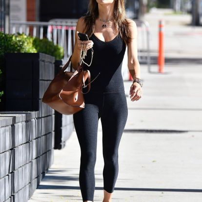 J. Lo and Alessandra Ambrosio support the risky trend that could keep up with leggings 2019