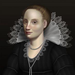 Egy webfejlesztő kódokkal hoz létre barokk festményeket