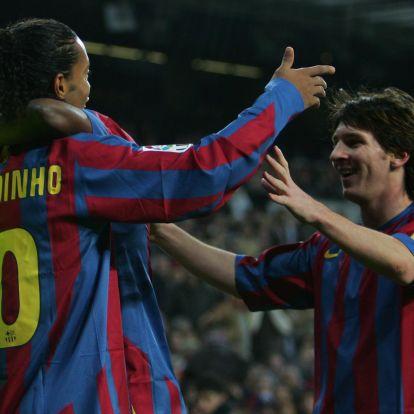 """Messi és Ronaldo nagyon jó, de Ronaldinho volt a legnagyobb"""