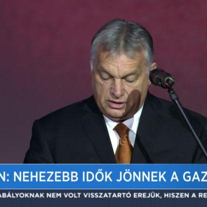Orbán: Nehezebb idők jönnek a gazdaságban