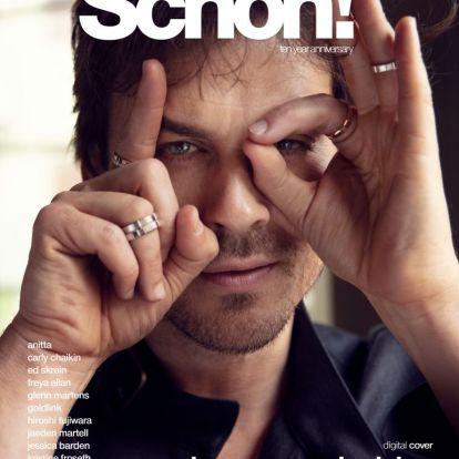 Schön! 37 digital cover | ian somerhalder
