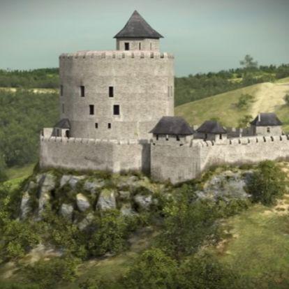 Így épült fel Hollókő vára