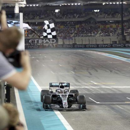 Hamilton satte sesongpunktum med seier i jubileumsløpet