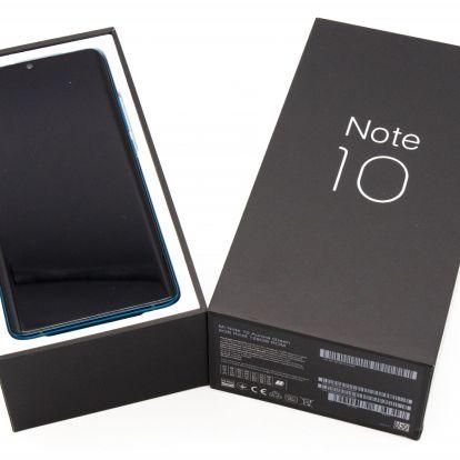 Xiaomi Mi Note 10 okostelefon teszt