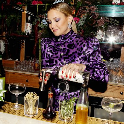 Kate Hudson's Holiday Look At The King St. Vodka Launch Offers A Lesson In Matching Your Makeup To Your Outfit This Party Season