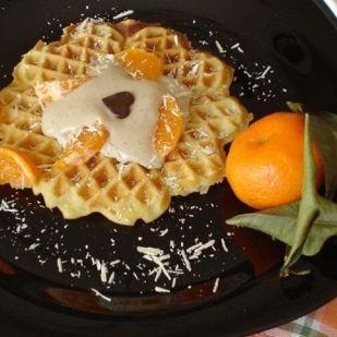 Mézes gofri mézeskalácsos krémmel Recept képpel - Mindmegette.hu - Receptek