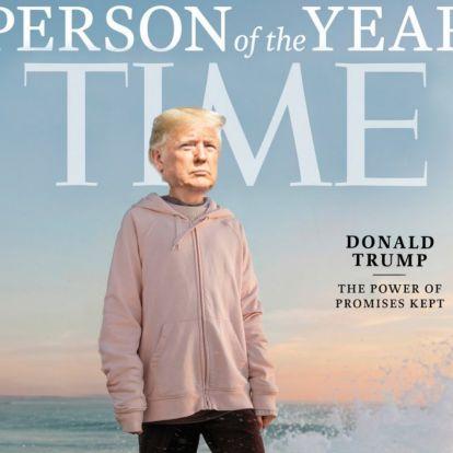Donald Trump kampánycsapata rászerkesztette az elnök fejét Greta Thunberg testére a Time magazin címlapján