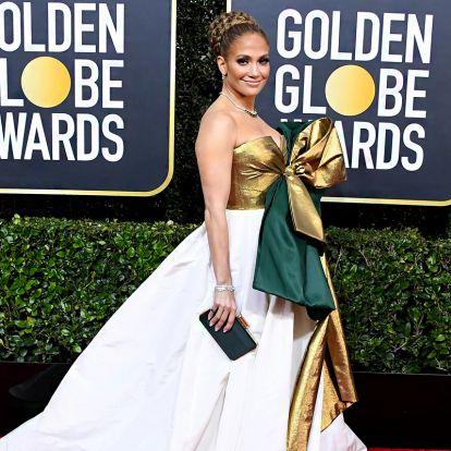 A legrondább ruhák az idei Golden Globe-ról: Jennifer Lopez magára aggatta a karácsonyról megmaradt csomagolópapírt