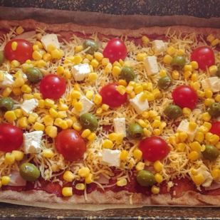 Fitness pizza Recept képpel - Mindmegette.hu - Receptek