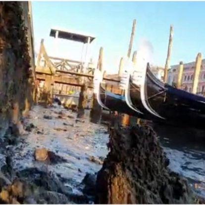 Durva árvíz után most az alacsony vízállás okoz gondot az olaszországi Velencében