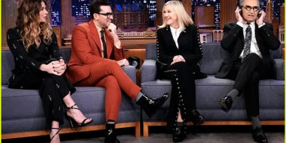 'Schitt's Creek' Cast Gets Quizzed on How Well They Know Each Other on 'Tonight Show' - Watch!