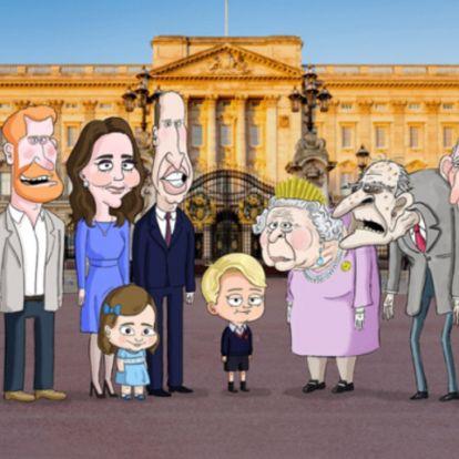 A brit királyi családot kifigurázó rajzfilmsorozat érkezik majd az HBO Maxra