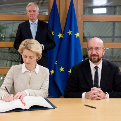 Brexit – Von der Leyen is aláírta a kilépési megállapodást