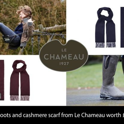 Win a pair of boots and cashmere scarf from Le Chameau