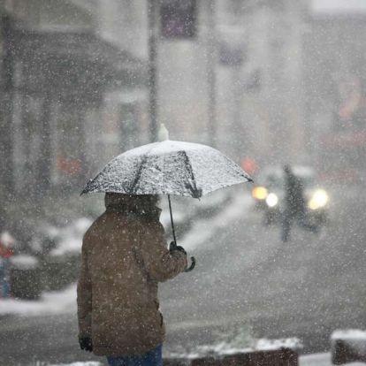 Szerdán már kevesebb lesz az eső, de hózáporok jöhetnek