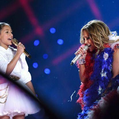 Jennifer Lopez lánya volt az est sztárja – Super Bowl