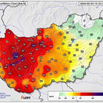 Vihar – Szerdán is marad a viharos szél