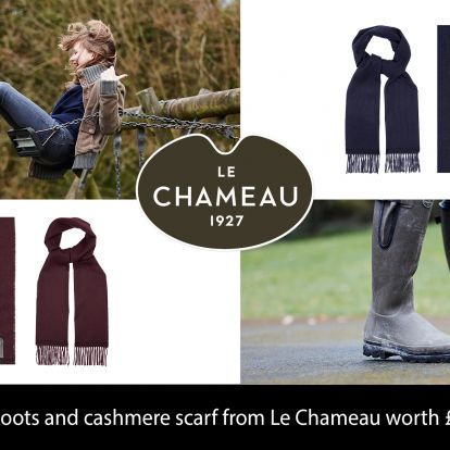 Win! A pair of boots and cashmere scarf from Le Chameau, worth £280