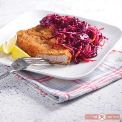 Rántott marhahús salátával recept - Hús receptek - Receptvarázs – receptek képekkel