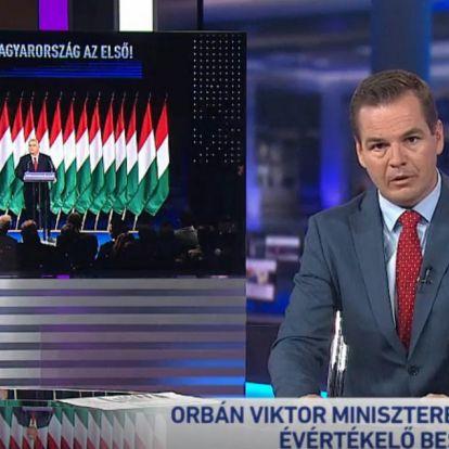 Tombol az agymosás: Eddig négyszer (!) ismételték meg Orbán évértékelőjét az M1-en teljes hosszában