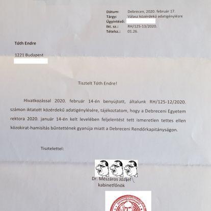 Hogyan kerülhet Kósa Lajos édesanyja sertéstelepének helyrajzi száma a Debreceni Egyetem dokumentumára?