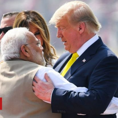 Trump lands in India for first official trip