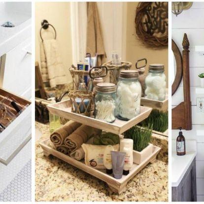 Kreatív fürdőszobai tárolási ötletek egyenes a Pinterestről