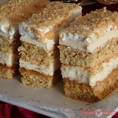 Diós-mogyorós krémes recept - Sütemények - Kipróbált, fényképes sütemény receptek a receptvarázson. - Receptvarázs – receptek képekkel