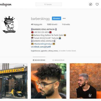 Török borbélyüzletet kezdtek el promózni Lékai-Kiss Ramóna két éve ellopott Instagram-fiókján