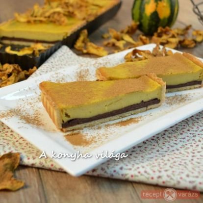 Sütőtökös csokoládés pite recept - kipróbált fényképes sütemény receptek - Receptvarázs – receptek képekkel