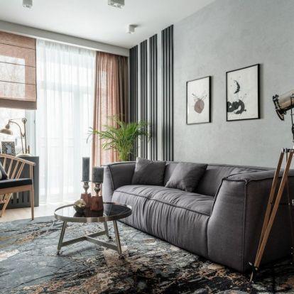 Férfias karakter és stílus, keskeny alaprajz – háromszobás lakás optimális berendezése kényelmesen, funkcionálisan