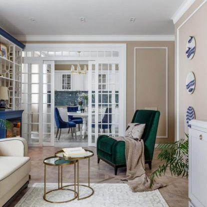 Édesanyának nagyon szépen berendezett, kényelmes terek, praktikus elosztás 66m2-en, kétszobás otthon
