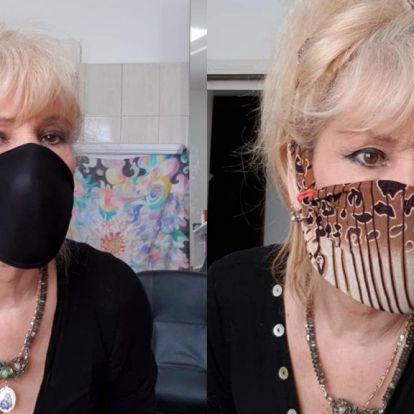 Bíró Ica a melltartójából csinált maszkot