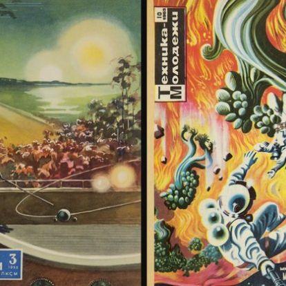 Így ábrázolták a szovjet tudományos magazinok a világűrt és az azt meghódító embert