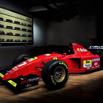 Schumacher ezt a Ferrarit vezette először, és most eladó