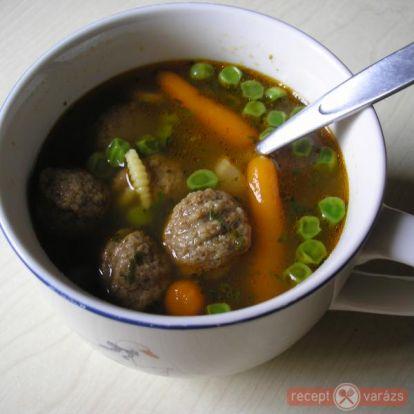 Borsóleves húsgombóccal - Levesek - Receptvarázs – receptek képekkel