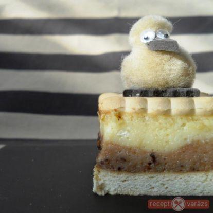 Vaníliás-kakaós csíkos kekszes süti - sütés nélküli sütemények, desszertek, édességek - Receptvarázs – receptek képekkel