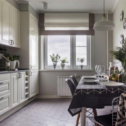 Otthonról dolgozó pár 73m2-es lakása IKEA bútorokkal ízlésesen berendezve, szép konyhával