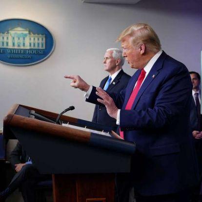 Donald Trump kijelentette, hogy tanulmányozzák a WHO-nak nyújtott támogatás felfüggesztését