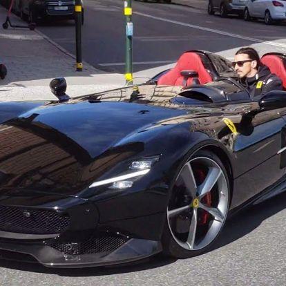 Ibrahimovic megjáratta a tető nélküli Ferrariját, megbüntethetik érte